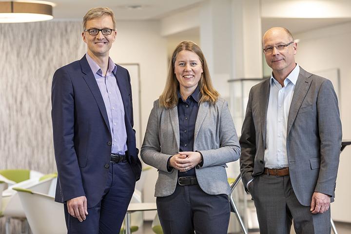 Unser Vorstandsteam: Dirk Musfeldt, Monika Bär und Rainer Schnese