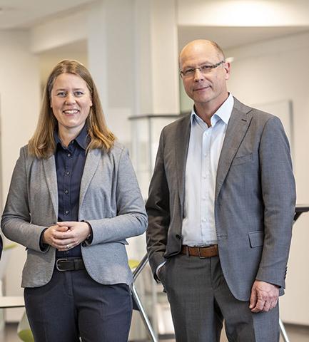 Stellvertretender Vorstand: Monika Bär und Rainer Schnese